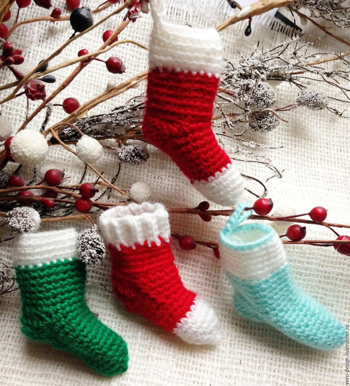 Носки для подарков связать 81