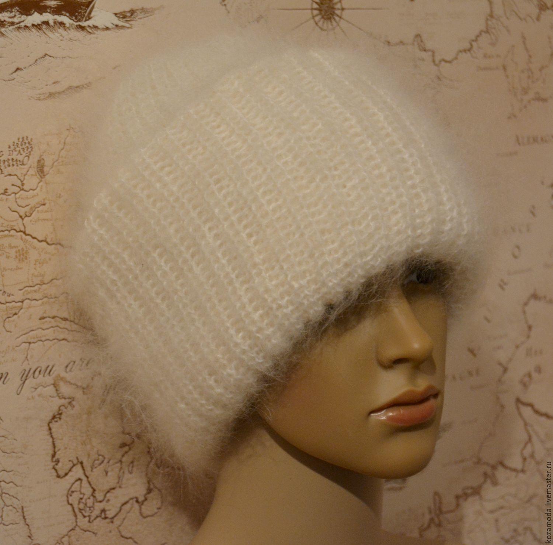 Hat white down double 'Bob's tacori' lapel byemma, Caps, Urjupinsk,  Фото №1