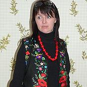 Одежда ручной работы. Ярмарка Мастеров - ручная работа Вышитый шелком  женский нарядный  жилет. Handmade.