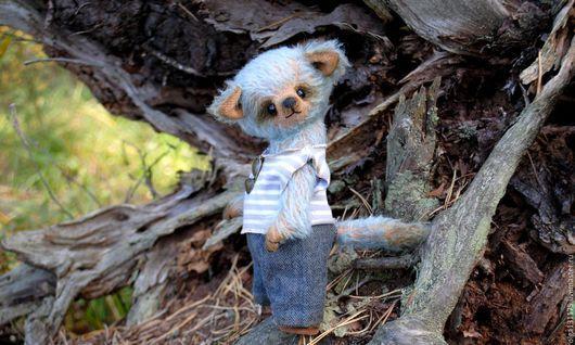 Мишки Тедди ручной работы. Ярмарка Мастеров - ручная работа. Купить Волчонок Егорка. Handmade. Разноцветный, малыш, коллекционный, фланель