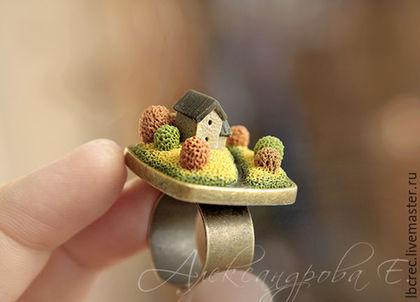 """Кольца ручной работы. Ярмарка Мастеров - ручная работа. Купить Кольцо """"Золотая осень"""". Handmade. Кольцо, миниатюра, украшения александровой"""