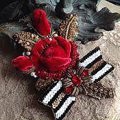 """Украшения ручной работы. Ярмарка Мастеров - ручная работа Брошь"""" роза"""". Handmade."""