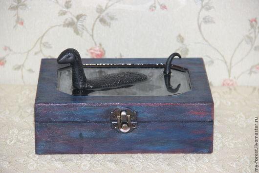 """Подарки для мужчин, ручной работы. Ярмарка Мастеров - ручная работа. Купить Шкатулка """"Лох-несское чудовище"""". Handmade. Шкатулка"""