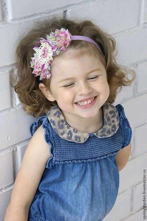 Повязка на голову для девочки в стиле шебби-шик. На лугу!!!!!!!!!!!!!!!!!!!1