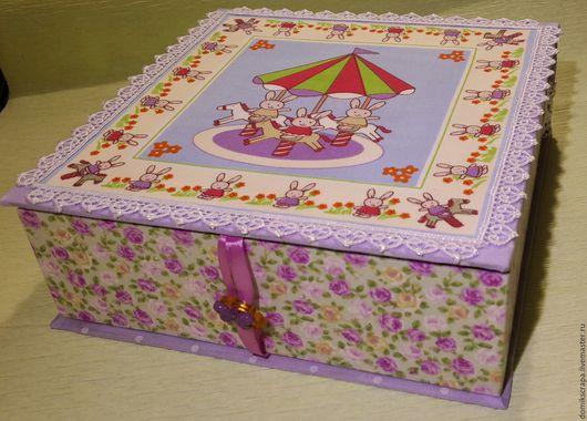 Персональные подарки ручной работы. Ярмарка Мастеров - ручная работа. Купить Коробочка маленькой принцесы. Handmade. Комбинированный, коробочка для мелочей