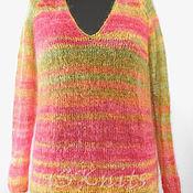 Одежда handmade. Livemaster - original item Knit loose (oversized) jumper (pullover) mohair. Handmade.