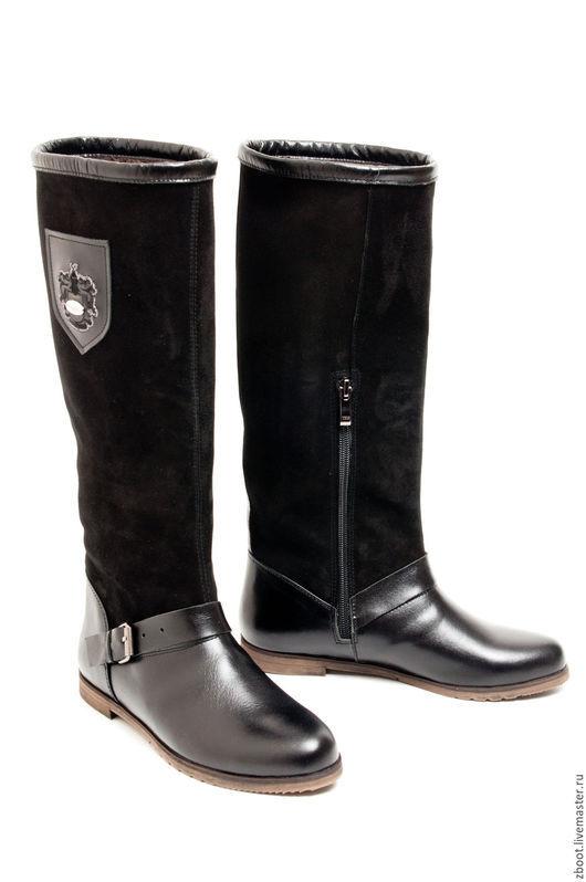 Обувь ручной работы. Ярмарка Мастеров - ручная работа. Купить Сапоги демисезонные Tex. Handmade. Черный, высокие сапоги