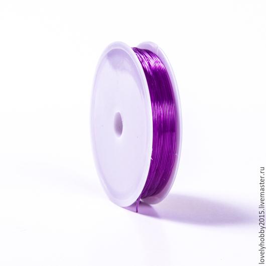 Эластичная нить фиолетовый