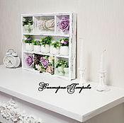 Для дома и интерьера handmade. Livemaster - original item Shelf on the wall wooden lilac veil. Handmade.