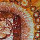Абстракция ручной работы. Заказать Картина Масленица, выполненная на шелке в технике горячего батика. Мария. Ярмарка Мастеров. Коричневый