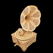 Сувениры и подарки handmade. Livemaster - original item Box-gramophone from birch bark. Exclusive gift. Handmade.
