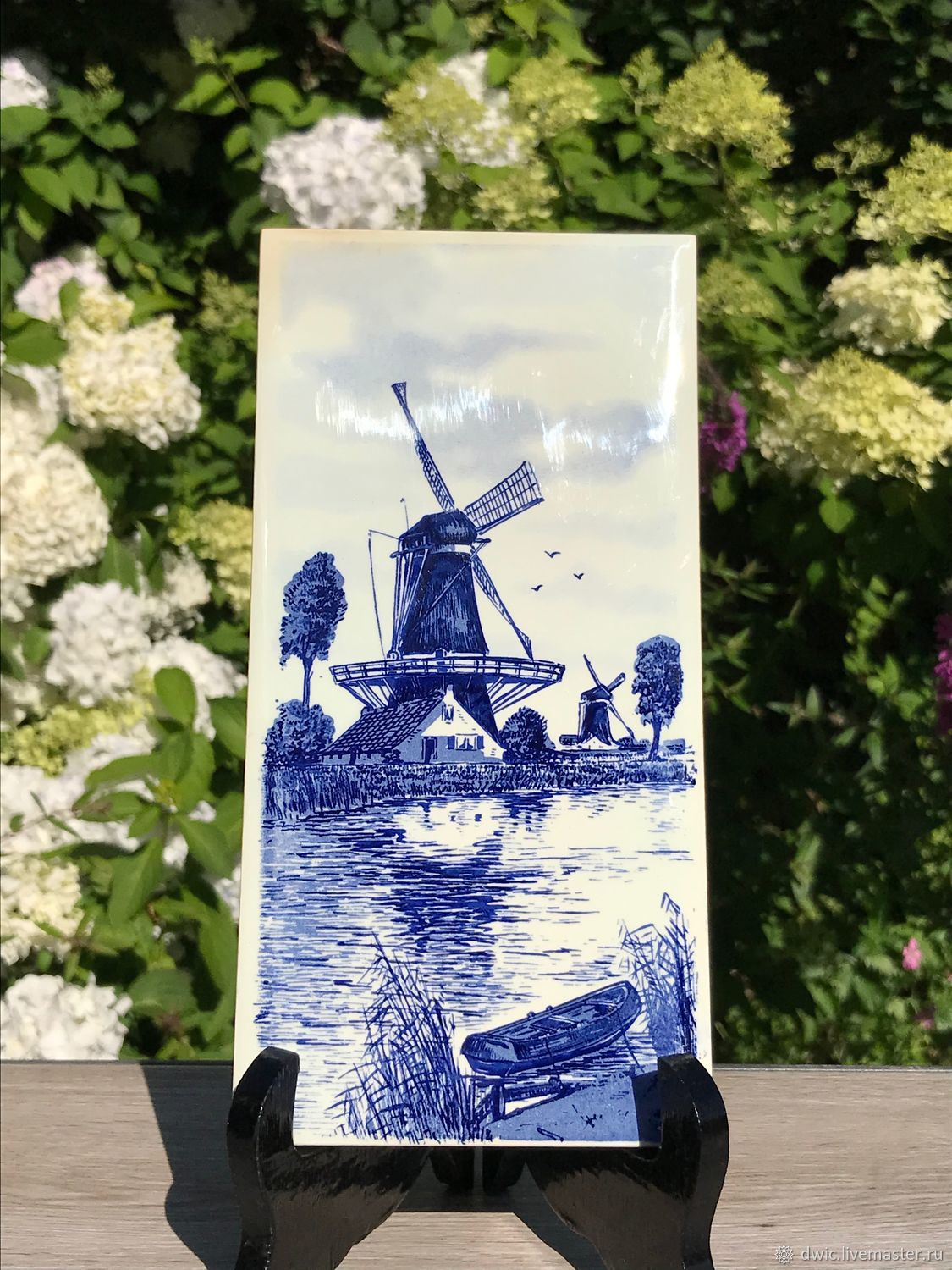 Panel 'Mill by the water', Delft, Holland, Vintage interior, Arnhem,  Фото №1