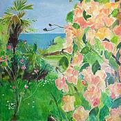 Картины и панно handmade. Livemaster - original item Picture. Abkhazia. Roses and the sea (2). Handmade.