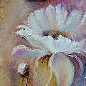 Картины и панно handmade. Livemaster - original item White flower oil painting. Handmade.