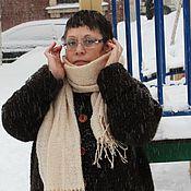 """Одежда ручной работы. Ярмарка Мастеров - ручная работа Пальто вязаное """"Норфолк"""", большой размер. Handmade."""