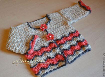 Для новорожденных, ручной работы. Ярмарка Мастеров - ручная работа Жакет для девочки. Handmade.