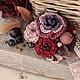 """Броши ручной работы. Ярмарка Мастеров - ручная работа. Купить Брошь """"Сахарные ягоды"""". Handmade. Брошь, бордо, камни натуральные"""