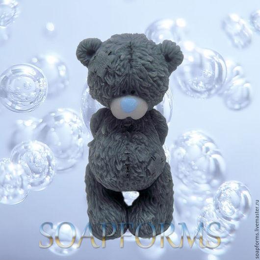 Форма силиконовая для мыла `Мишка Тедди грустный`  (на фото работа выполненная в мыле)