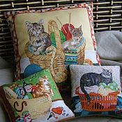 """Для домашних животных, ручной работы. Ярмарка Мастеров - ручная работа Комплект миниатюрных подушек """"Все для любимой"""". Handmade."""