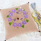 Материалы для творчества handmade. Livemaster - original item Needle holder with hand embroidery