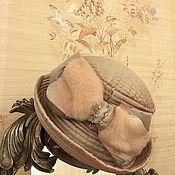 Аксессуары ручной работы. Ярмарка Мастеров - ручная работа Шляпка Пудровая роскошь. Handmade.