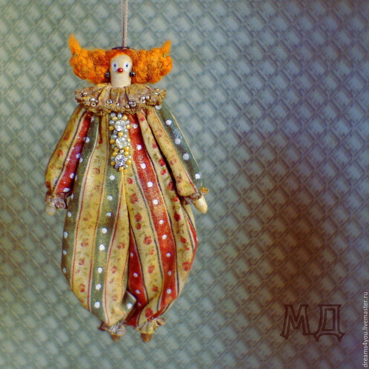Клоунесса, клоун, серия Шапито. Коллекционная текстильная  кукла, Куклы Тильда, Апшеронск,  Фото №1
