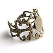 Материалы для творчества handmade. Livemaster - original item Base for rings. Handmade.