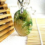 Украшения handmade. Livemaster - original item Elegant pendant made of yellow-green agate. Handmade.