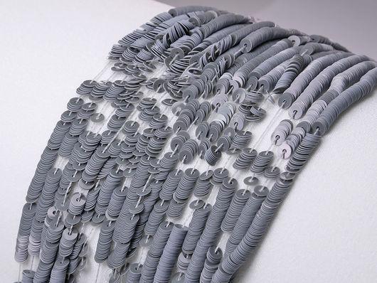 Вышивка ручной работы. Ярмарка Мастеров - ручная работа. Купить Пайетки 3мм Плоские Porcelaine Grise Langlois-Martin Paris. Handmade.