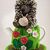 """Для дома и интерьера ручной работы. Ярмарка Мастеров - ручная работа Грелка на чайник """"Ёжик в тумане"""". Handmade."""