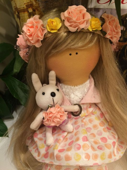 """Коллекционные куклы ручной работы. Ярмарка Мастеров - ручная работа. Купить Авторская  текстильная кукла ручной работы """"Милое детство"""". Handmade."""