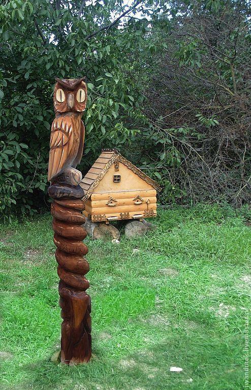 Фигуры из дерева для дачи