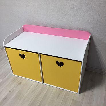 Для дома и интерьера ручной работы. Ярмарка Мастеров - ручная работа Лавочка с двумя ящиками и бортиками. Handmade.