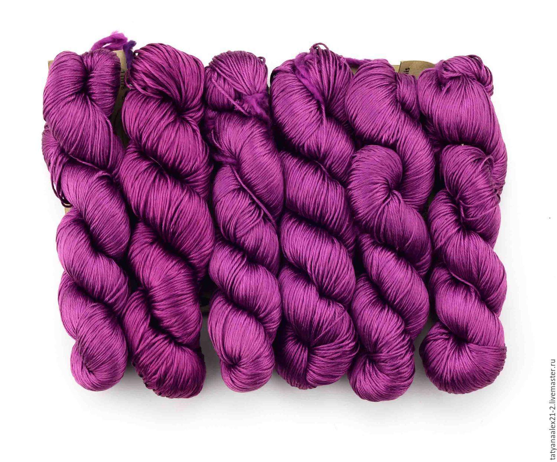 Вязание ручной работы. Ярмарка Мастеров - ручная работа. Купить Пряжа THE LOOM  Mulberry Hybrid MH-05 Red Violet. Handmade.