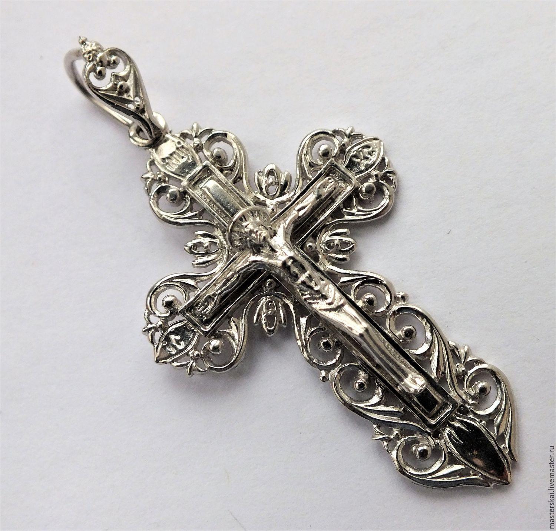 приводит заломам крест из серебра мужской фото английском