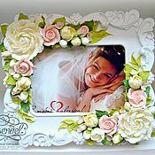Свадебный салон ручной работы. Ярмарка Мастеров - ручная работа Фоторамка для свадебного фото.. Handmade.