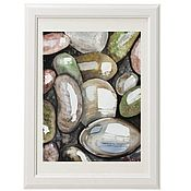 Картины и панно handmade. Livemaster - original item Watercolor Wet stones Painting Zen. Handmade.
