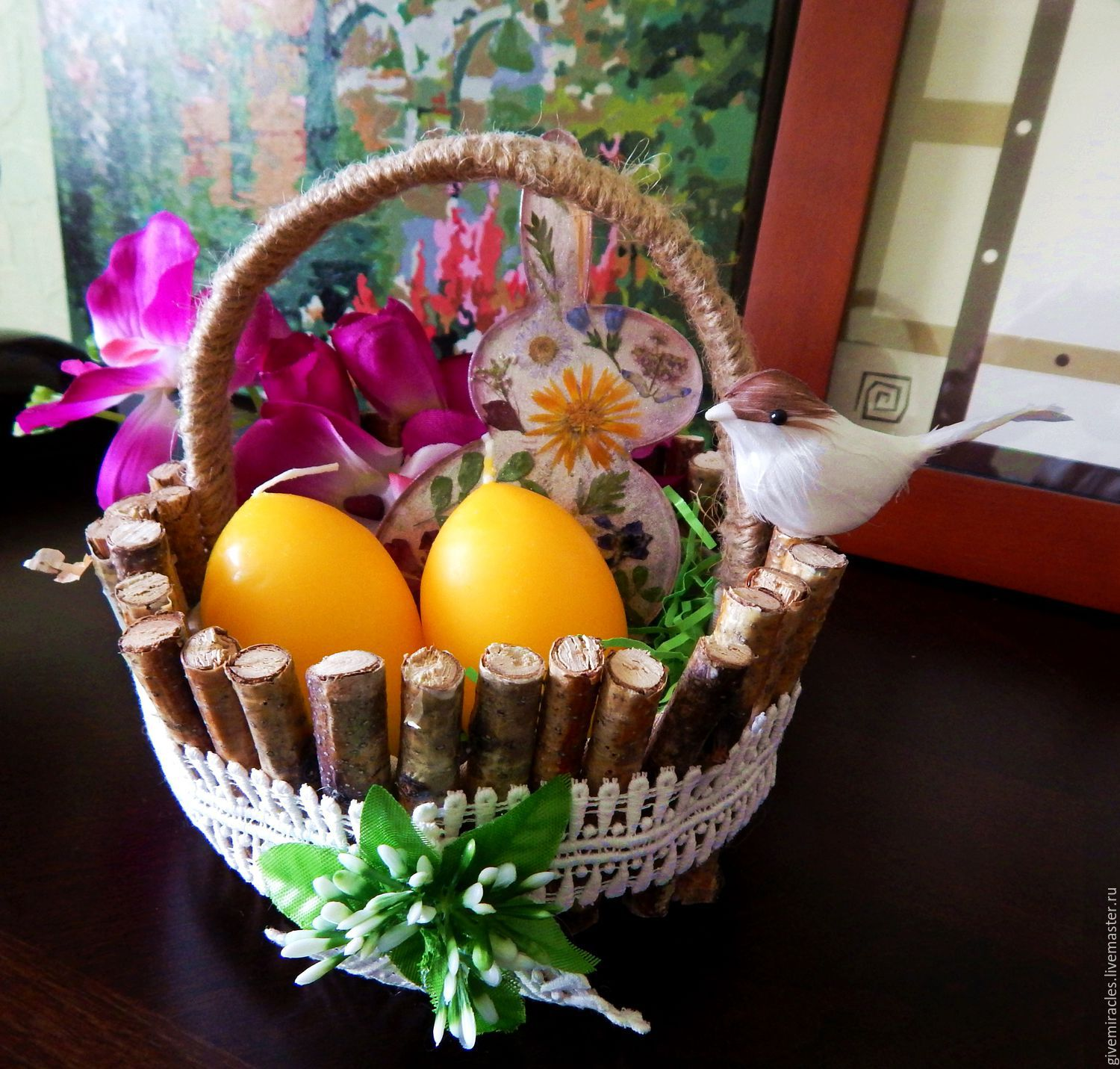 Easter decorationeaster basketholiday decor shop online on pendants handmade livemaster handmade buy easter decorationeaster basketholiday decor negle Images