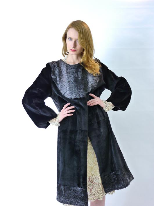 """Верхняя одежда ручной работы. Ярмарка Мастеров - ручная работа. Купить шуба  """" Фантастическая"""". Handmade. Черный, женская одежда"""