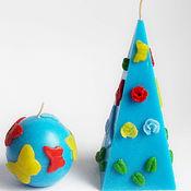 Свечи ручной работы. Ярмарка Мастеров - ручная работа Свечи: Комплект свечей ручной работы Лето. Handmade.