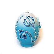 Подарки к праздникам ручной работы. Ярмарка Мастеров - ручная работа Пасхальная резная свеча Пасхальное яйцо (Подснежники). Handmade.