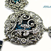 handmade. Livemaster - original item Vintage style. Necklace earring set,