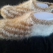 Аксессуары handmade. Livemaster - original item Slippers-sledki from dog down. Handmade.