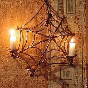 Для дома и интерьера ручной работы. Ярмарка Мастеров - ручная работа подсвечник паутина. Handmade.