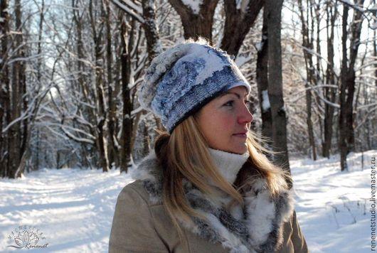 Шапки ручной работы. Ярмарка Мастеров - ручная работа. Купить Зимний сон. Валяная шапка росомаха. Handmade. Абстрактный, голубой