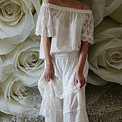 Одежда handmade. Livemaster - original item Blouse boho bohemian chic Lace. Handmade.