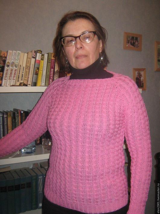 Кофты и свитера ручной работы. Ярмарка Мастеров - ручная работа. Купить шерстяной вязаный джемпер Фламинго. Handmade. Розовый