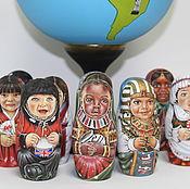 Русский стиль ручной работы. Ярмарка Мастеров - ручная работа Деревяный глобус. Handmade.