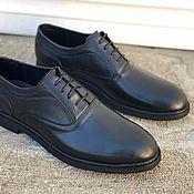 Туфли ручной работы. Ярмарка Мастеров - ручная работа Мужские туфли из натуральной кожи. Handmade.