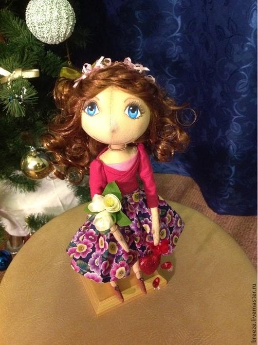 Куклы тыквоголовки ручной работы. Ярмарка Мастеров - ручная работа. Купить Кукла, вдохновляющая. Handmade. Фуксия, любовь